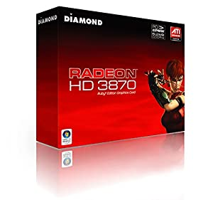Diamond ATI Radeon HD 3870 512MB D-DVI HDTV-O VIVO DDR4 PCIE Graphics Card