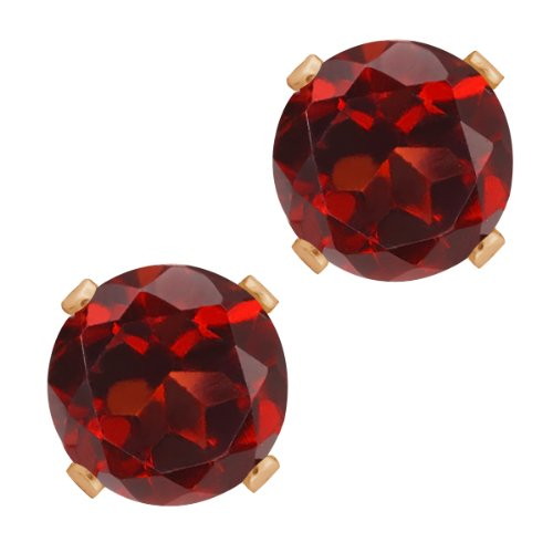 3.00 Ct Round Shape Red Garnet Rose Gold Plated Silver