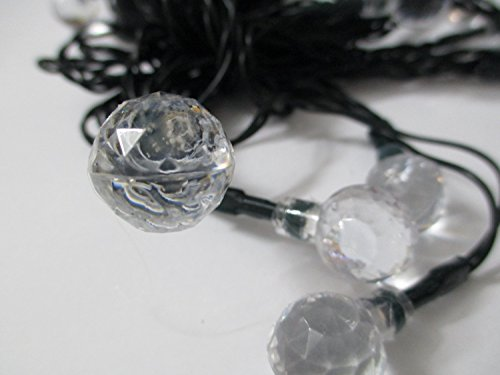 Led String Lights Round : Sunniemart 20 LED Round Ball Globe String Lights Solar Powered Fairy Lights New eBay