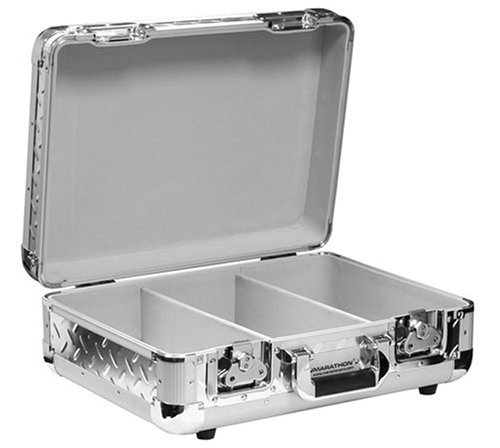 Marathon Elight Series Ma-Ecd3 Sil-Dia Cd Case 3 Row Holds Up To 65 Jewel Cases & Up To 200 Plastic Sleeves: Silver Diamond