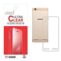 Johra Clear Screen Scratch Guard Protector With Transparent Silicon Soft Jelly TPU Back Case For Lenovo Vibe K5