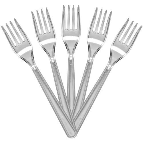 100-of-luxury-quality-clear-forks-plastic-cutlery-weddings-parties-picnics