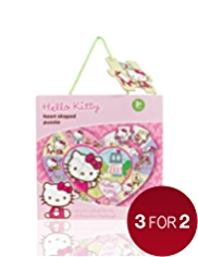 Hello Kitty Heart Shaped Puzzle Game