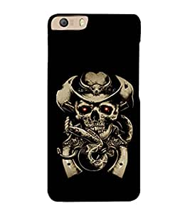 printtech Cowboy Skull snake Back Case Cover for Micromax Canvas Knight 2 E471