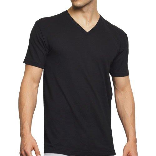 (グンゼ)GUNZE COOLMAGIC VネックTシャツ(汗取りパッド付) 【吸汗速乾×消臭】 MC0016 ブラック L