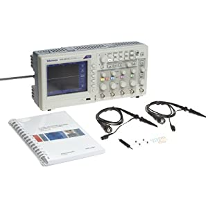 Tektronix TDS2014C Digital Storage Oscilloscope, 100MHz Bandwidth, 2GS/s Sample Rate, 2.5k Record Length, 4 Channels, TFT Color Display