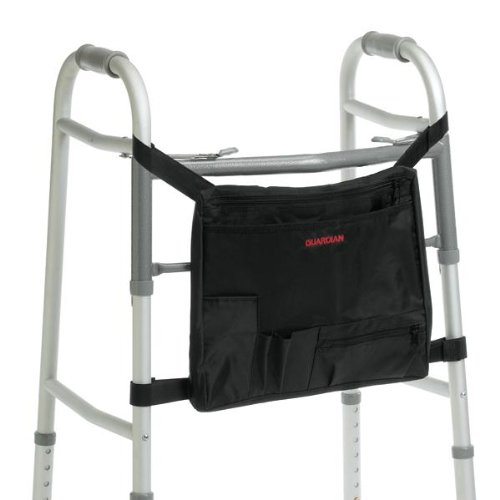 Medline Industries G07741 Walker Carry Pouch/Tote, Black (Pack Of 3)
