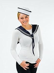 Matrosenmädchen Kostüm für Erwachsene Mütze und Schal