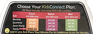 "KidsConnect GPS Tracker Cell Phone Wearable for Kids & Children ""All in One Security Solution"" Black"