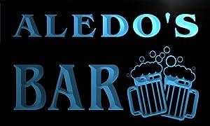 w140768-b ALEDO'S Name Home Bar Pub Beer Mugs Cheers Neon Light Sign