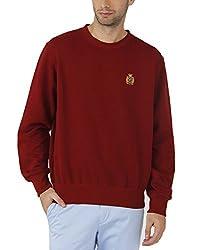 Fahrenheit Men's Fleece Sweat Shirt (8903942261947_Maroon_XX-Large)