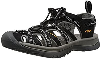 KEEN Women's Whisper Sandal,Black/Neutral Gray,5 M US