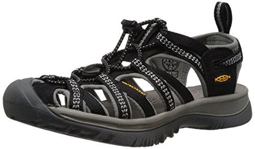 Keen Women'S Whisper Sandal,Black/Neutral Gray,8 M Us front-972546