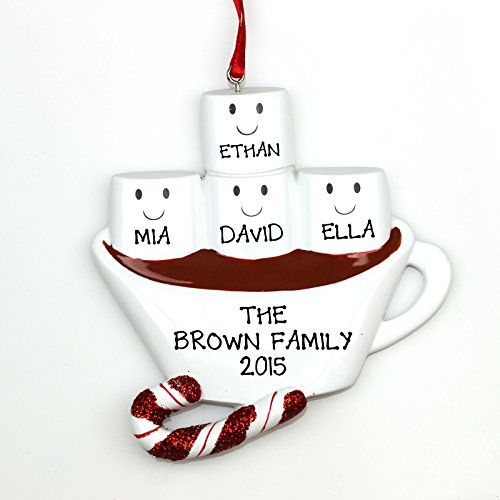 Personalized Christmas Ornament Hot Chocolate Family