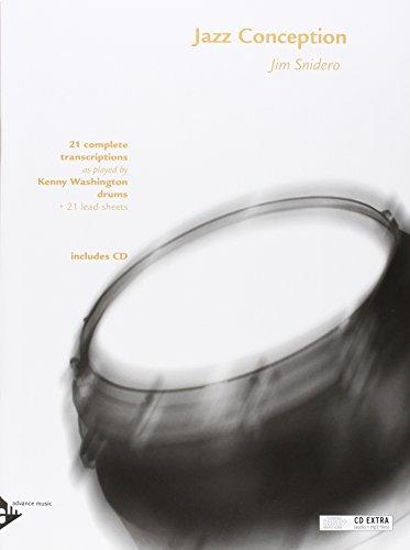 Jazz Conception for Drums: 21 complete transcriptions. Schlagzeug. Ausgabe mit mp3-CD