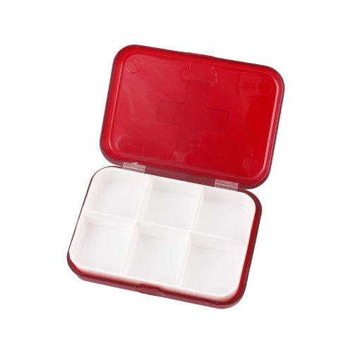 Ebest - 6 Pill Box Compartiment Pilulier de voyage Porte-Container Nouvelle Médecine
