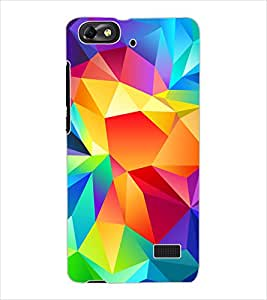 ColourCraft Colourful Pattern Design Back Case Cover for HUAWEI HONOR 4C