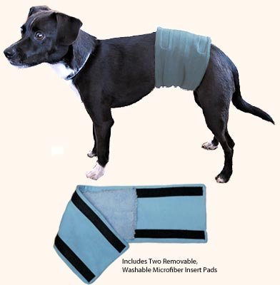 "Male Wrap, Dog Belly Band - Housetraining / Housebreaking Aid (27.5-32"" Waist)"