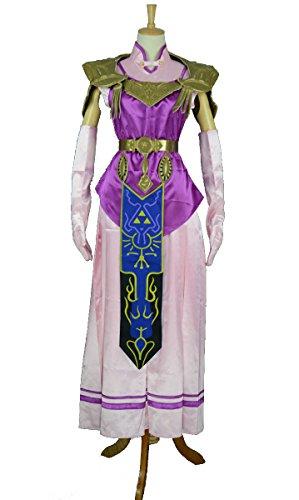 [Princess Zelda Cosplay Costume from The Legend of Zelda: Twilight Princess - S] (Princess Zelda Cosplay Costume)