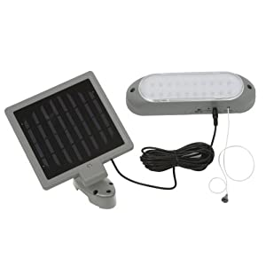 Designers Edge L-949 10 LED Rechargeable Solar Panel Shed Light Model