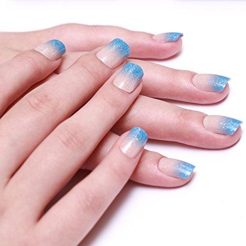bling art false nails french manicure