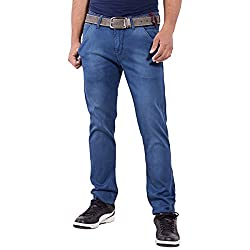 URBAN FAITH Men's Plain Jeans in 100% Cotton