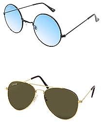 Benour BENCOM036 Combo Unisex Sunglasses