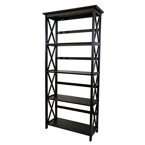 Casual Home 324-53 Montego 5-Tier Bookcase, Espresso by Casual Home