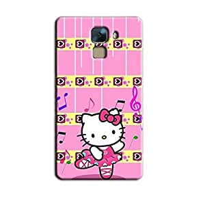 PINK TEDDY KITTY BACK COVER FOR HONOR 7