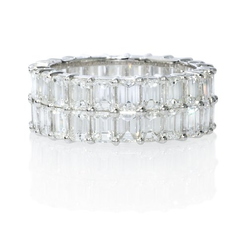 Diamond 18k White Gold Eternity Wedding Band
