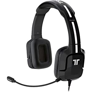 """Mad Catz, Inc - Tritton Kunai Headset - Stereo - Black - Mini-Phone - Wired - 16 Ohm - 25 Hz - 20 Khz - Over-The-Head - Binaural - Supra-Aural - 14 Ft Cable """"Product Category: Audio Electronics/Headsets/Earsets"""""""