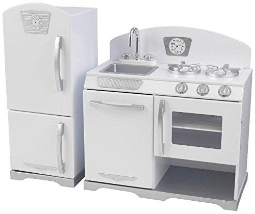 KidKraft Retro Kitchen and Refrigerator (2-Piece), White (Kidkraft Kitchen White compare prices)