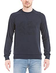 Prym Men's Cotton SweatShirt (8907423023512_2011501502_X-Large_Navy)