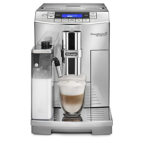 Delonghi Prima Donna Stainless Steel Super Automatic Beverage Machine - Silver