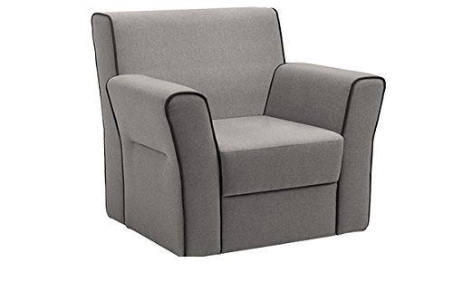 MONACO grey fabric comfortable armchair living room office furniture