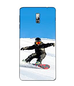 Crazymonk Premium Digital Printed 3D Back Cover For One Plus 2