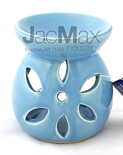 Expressive Scent Ceramic Burner for Oil and Wax Melts - Fragrance Oil Warmer Lamp BLUE 26-12 (Blue Wax Burner compare prices)