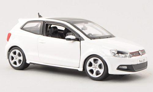 VW-Polo-V-GTI-weiss-Modellauto-Fertigmodell-Bburago-124