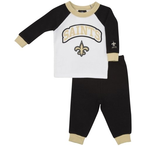 NFL New Orleans Saints Boy's Thermal Pajamas (2-Piece), 18 Months, Black at Amazon.com