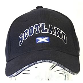 Scotland Baseball Cap in Navy Blue, Cap with Lining (adjustable strap)