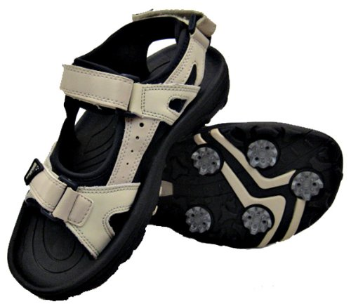 Palm Springs Ladies Golf Sandals BONE/BLACK
