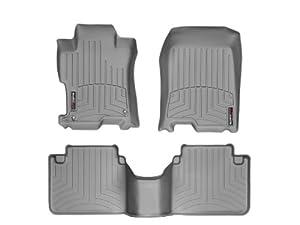 WeatherTech Custom Fit FloorLiner - Honda Accord Sedan- 2008-2012 - 1st & 2nd Row Grey