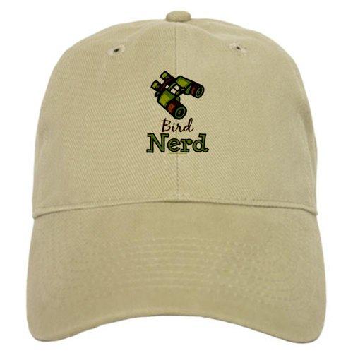 Cafepress Bird Nerd Birding Ornithology Cap - Standard Khaki