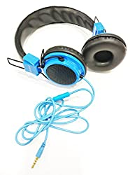 Compatible For Vodafone Smart speed 6 Aux Wired Headphone with Mic-Blue