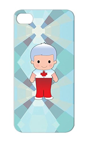 Tear-Resistant Happy Child Vector Nationality Portrait Smile Lad Male Cities Countries Flags Small Little Illustration Cheerful Young Youth Kid Standing Cute Schoolboy Isolated Boy Canada Canada Protective Case For Iphone 5 Red Poppy Canadian Boy front-488652