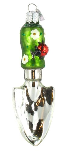Old world christmas garden trowel glass blown ornament for Garden trowels for sale