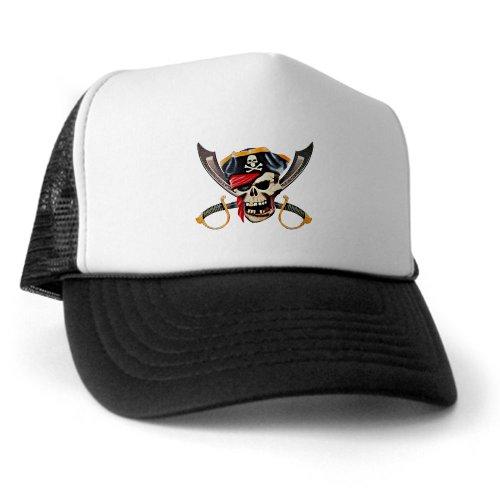 Artsmith, Inc. Trucker Hat (Baseball Cap) Pirate Skull