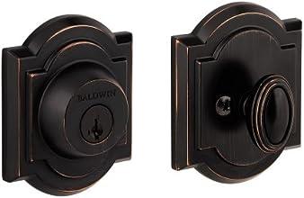 Baldwin 380 ARB 11P SMT CP RCAL Single Cylinder Arched Deadbolt Featuring SmartKey, Venetian Bronze