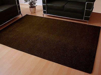 Teppich Hochflor Shaggy Cottage Dunkelbraun in 22 Größen