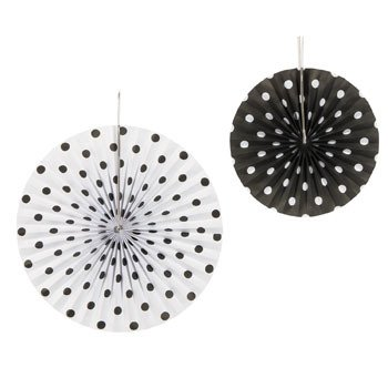 Black Polka Dot Hanging Tissue